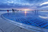 Installation Greetings to the Sun by Nikola Basic at Sunset, Zadar, Dalmatia, Croatia, Europe Photographic Print by Markus Lange