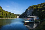 Ferry at the Danube Breakthrough Near the Weltenburg Monastery, Kehlheim, Bavaria, Germany, Europe Photographic Print by Michael Runkel