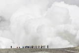 Visitors Watching Mud Being Ejected from the Caldera Floor of an Active Andesite Stratovolcano Photographic Print by Michael Nolan