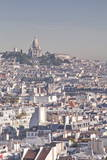 Looking over the Rooftops of Paris to Sacre Coeur, Paris, France, Europe Photographic Print by Julian Elliott