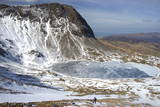 The Frozen Llyn Y Gadair Below Summit of Cyfrwy Photographic Print by Duncan Maxwell
