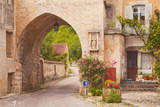 One of the Old Gates to the Village of Noyers Sur Serein in Yonne, Burgundy, France, Europe Photographic Print by Julian Elliott
