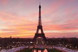 Eiffel Tower at Sunrise, Paris, Ile De France, France, Europe Photographic Print by Markus Lange
