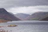 Low Rain Clouds Surrunding the Fells Above Wast Water in the Lake District National Park Photographic Print by Julian Elliott