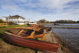 Boathouse Cafe and Rowing Boats at Hornsea Mere Photographic Print by Mark Sunderland
