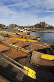 Rowing Boats at Hornsea Mere, East Riding of Yorkshire, Yorkshire, England, United Kingdom, Europe Photographic Print by Mark Sunderland