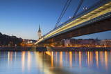St. Martin's Cathedral and New Bridge over the River Danube at Dusk, Bratislava, Slovakia, Europe Photographic Print by Ian Trower