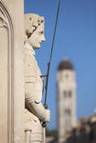 Close-Up of Statue on Placa, Dubrovnik, Croatia, Europe Photographic Print by John Miller