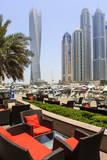 Cayan Tower in Dubai Marina, Dubai, United Arab Emirates, Middle East Photographic Print by Amanda Hall