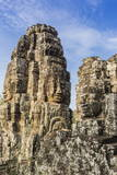 Face Towers in Bayon Temple in Angkor Thom Photographic Print by Michael Nolan