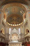 Interior of Votive Church, Szeged, Southern Plain, Hungary, Europe Photographic Print by Ian Trower