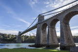Menai Bridge Spanning the Menai Strait, Anglesey, Wales, United Kingdom, Europe Photographic Print by Charlie Harding