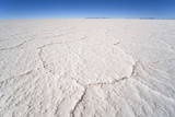 Hexagonal Shaped Salt Flats, Salar De Uyuni, Bolivia, South America Photographic Print by Kim Walker