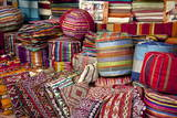 Typical Cushions in Street Shop, Marrakech, Morocco, North Africa, Africa Photographic Print by Guy Thouvenin