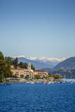 View over Belgirate, Lake Maggiore, Italian Lakes, Piedmont, Italy, Europe Photographic Print by Yadid Levy