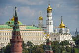 The Towers of the Kremlin, UNESCO World Heritage Site, Moscow, Russia, Europe Photographic Print by Michael Runkel