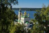 View over an Orthodox Church and the Volga River, Plyos, Golden Ring, Russia, Europe Photographic Print by Michael Runkel