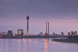The Dusseldorf Skyline at Dusk, Dusseldorf, North Rhine-Westphalia, Germany, Europe Photographic Print by Julian Elliott