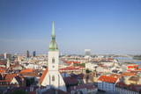 View of St. Martin's Cathedral and City Skyline, Bratislava, Slovakia, Europe Photographic Print by Ian Trower