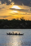 Fishing Boat Near the Village of Angkor Ban Photographic Print by Michael Nolan