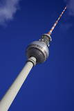 Television Tower (Tv) with Blue Sky, Berlin, Germany, Europe Photographic Print by Simon Montgomery