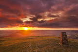 Sunrise on Great Ridge, Mam Tor, Hope Valley, Peak District National Park, Derbyshire Photographic Print by Neale Clark