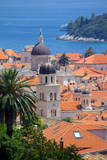 View over Old Town, UNESCO World Heritage Site, Dubrovnik, Dalmatia, Croatia, Europe Fotografisk tryk af Frank Fell