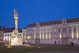 Baroque Palace and Trinity Column in Piata Unirii at Dusk, Timisoara, Banat, Romania, Europe Photographic Print by Ian Trower