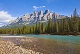 Castle Mountain Behind the Bow River at Castle Junction Photographic Print by Neale Clark