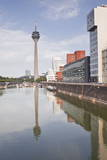 The Old Docks in the City of Dusseldorf, North Rhine-Westphalia, Germany, Europe Photographic Print by Julian Elliott