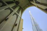 Burj Khalifa and Souk Al Bahar, Dubai, United Arab Emirates, Middle East Photographic Print by Amanda Hall