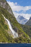 Lady Bowen Waterfall in Milford Sound Photographic Print by Michael Nolan