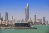 Arabian Gulf and City Skyline, Salmiya, Kuwait City, Kuwait, Middle East Photographic Print by Jane Sweeney
