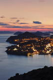 High Angle View of Dubrovnik at Sunset, UNESCO World Heritage Site, Dalmatia, Croatia, Europe Photographic Print by Markus Lange
