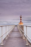 The South Jetty Lighthouse in Amble Photographic Print by Julian Elliott
