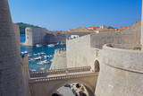 Harbour and Old Town Walls, UNESCO World Heritage Site, Dubrovnik, Dalmatia, Croatia, Europe Photographic Print by Frank Fell