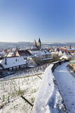 High Angle View of the Old Town of Esslingen in Winter, Baden Wurttemberg, Germany, Europe Photographic Print by Markus Lange