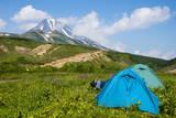 Camping Below the Vilyuchinsk Volcano, Kamchatka, Russia, Eurasia Photographic Print by Michael Runkel