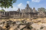 Bayon Temple in Angkor Thom Photographic Print by Michael Nolan