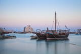 Boats in Doha Bay and Museum of Islamic Art, Doha, Qatar, Middle East Photographic Print by Jane Sweeney