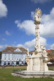 Trinity Column in Piata Unirii, Timisoara, Banat, Romania, Europe Photographic Print by Ian Trower