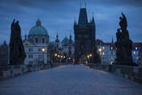 Charles Bridge, Prague, UNESCO World Heritage Site, Czech Republic, Europe Fotografisk tryk af Ben Pipe