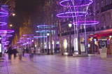 Christmas Decorations Along the Champs Elysees in Paris, France, Europe Photographic Print by Julian Elliott