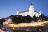 Bratislava Castle at Dusk, Bratislava, Slovakia, Europe Photographic Print by Ian Trower