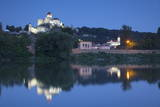 Trencin Castle at Dusk, Trencin, Trencin Region, Slovakia, Europe Photographic Print by Ian Trower