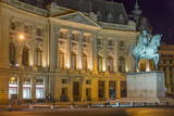 University Library and Statue of King Carol I, Bucharest, Romania, Europe Photographic Print by Rolf Richardson
