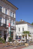 Outdoor Cafes in Klauzal Square, Szeged, Southern Plain, Hungary, Europe Photographic Print by Ian Trower