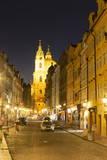 Street Scene at Night, Prague, Czech Republic, Europe Photographic Print by Angelo Cavalli