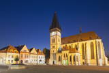 Basilica of St. Egidius in Radnicne Square at Dusk Photographic Print by Ian Trower