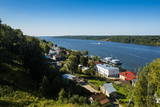 View over Plyos and the Volga River, Golden Ring, Russia, Europe Photographic Print by Michael Runkel